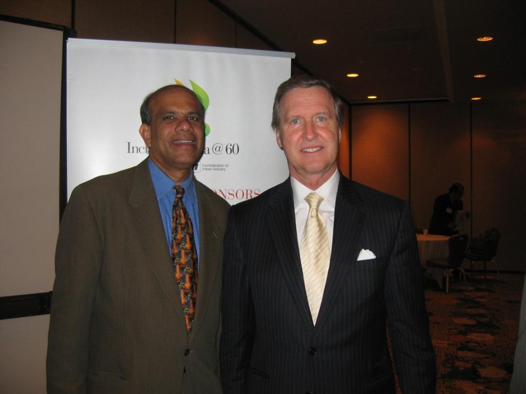 Dr. Gurumurthy Kalyanaram with Senator Cohen.JPG
