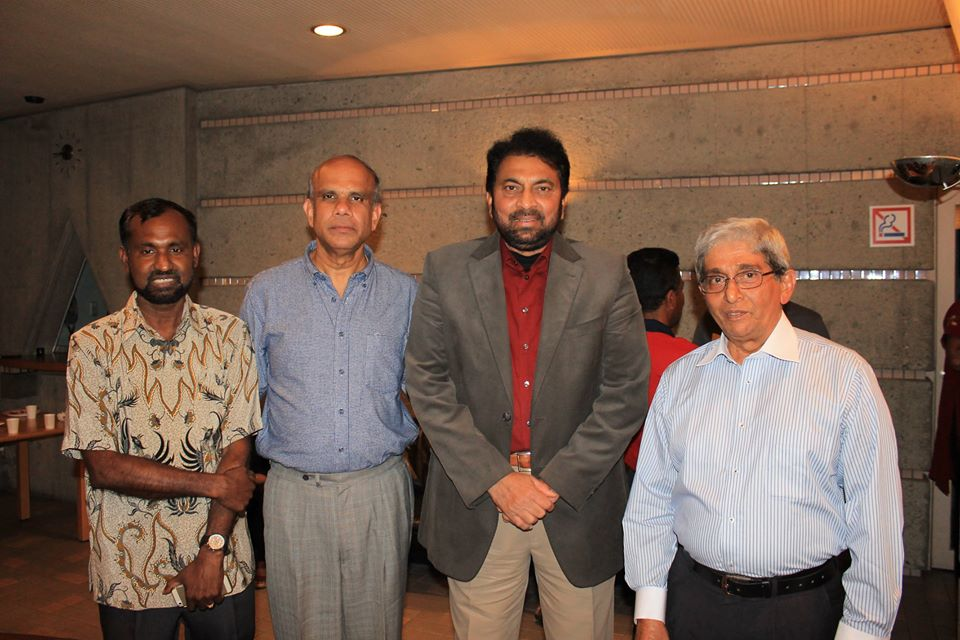 Dr. Gurumurthy Kalyanaram with Sri Lankan Ambasador to Japan, Karannagoda, and Professors Cooray and Lakshman.jpg