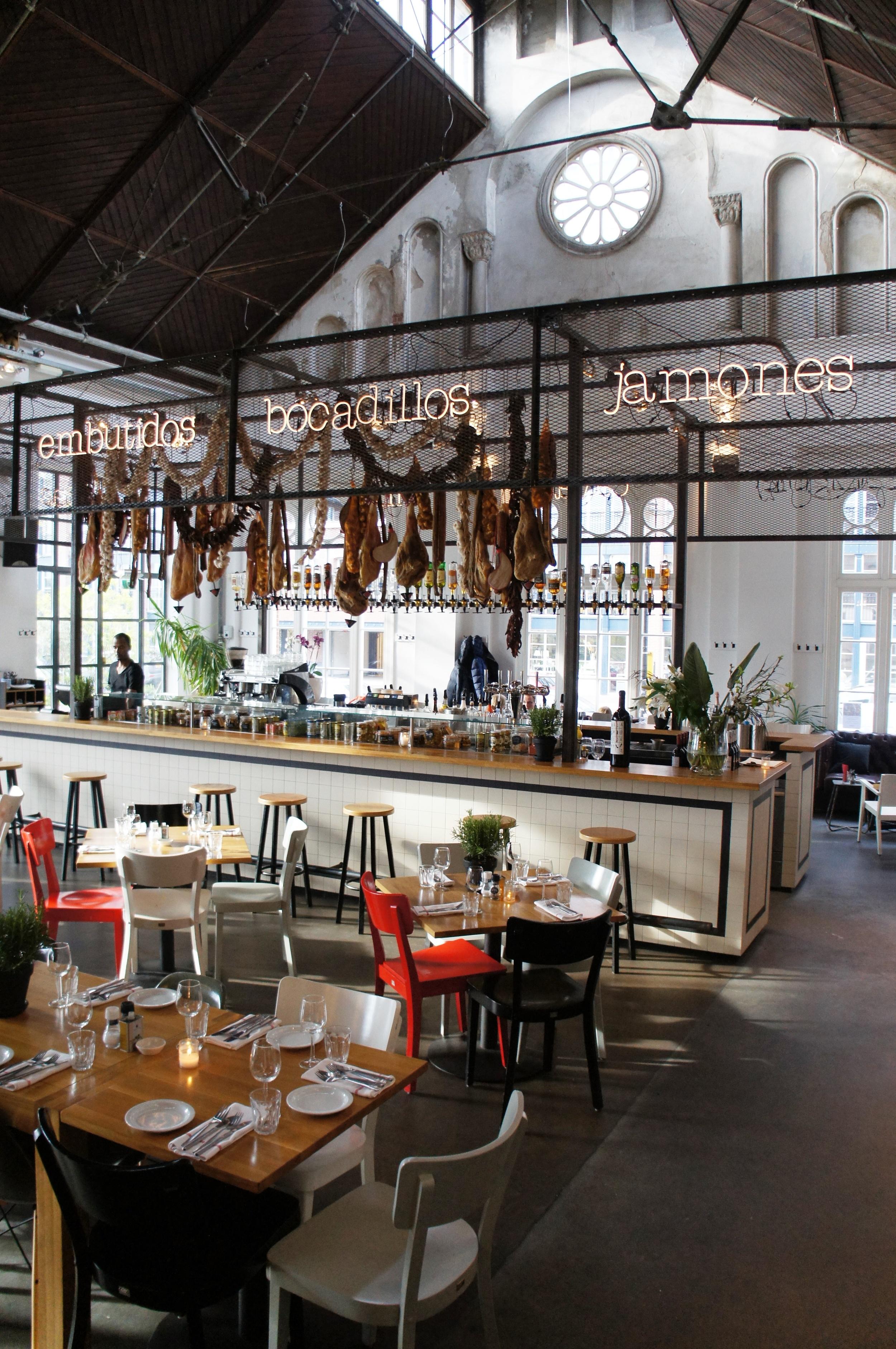 Interior of Mercat restaurant in Amsterdam