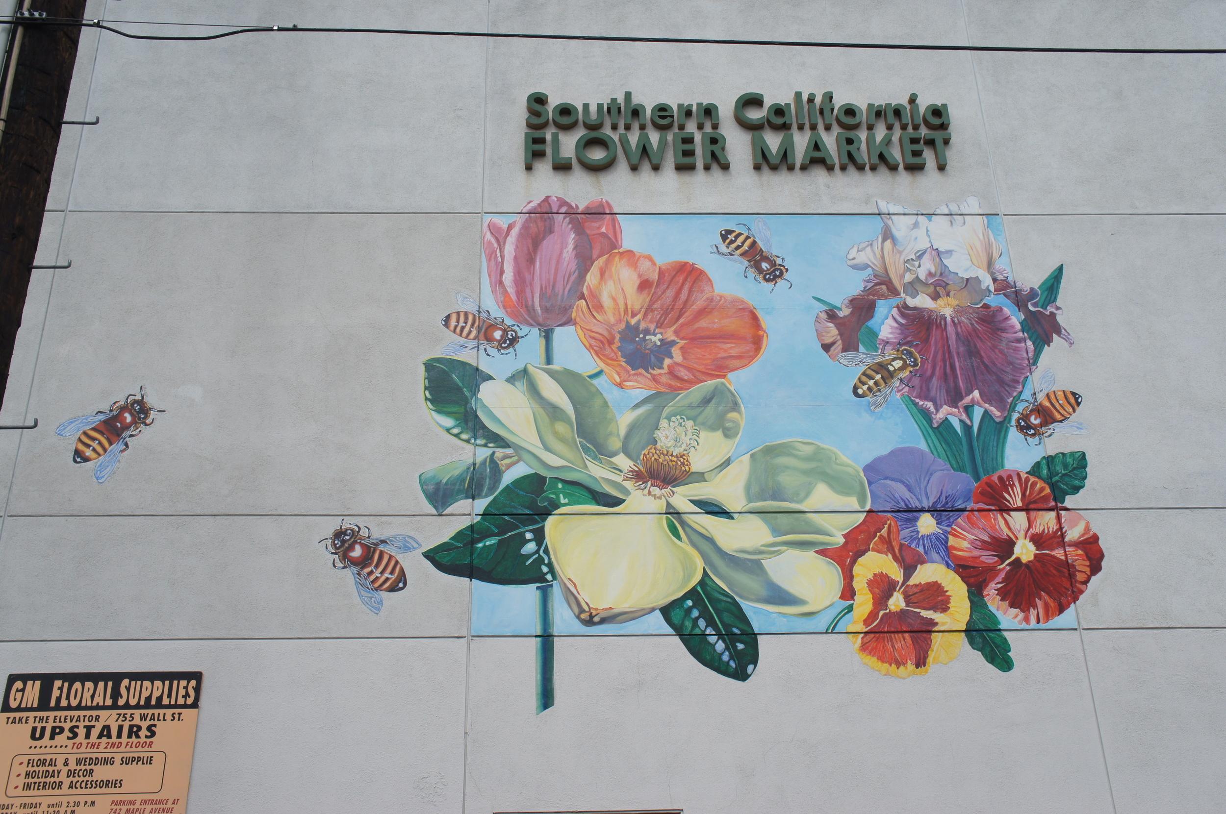 Los Angeles flower market wall mural
