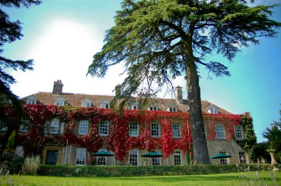 Holbrook House front view of building in autumn