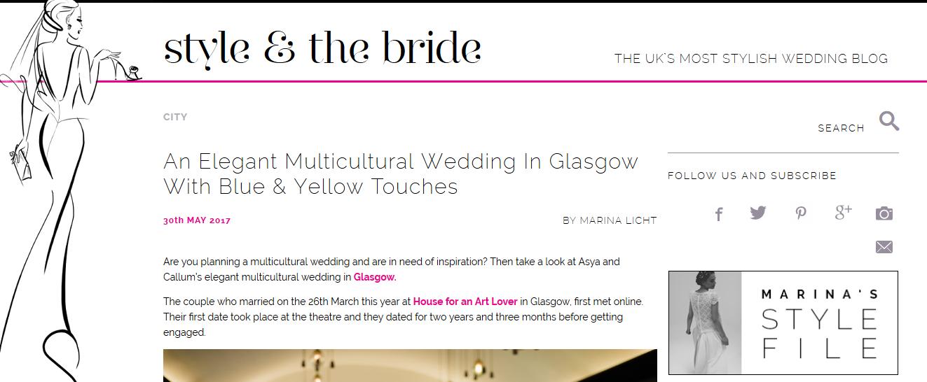House for an Art Lover Little Botanica Glasgow Wedding florist
