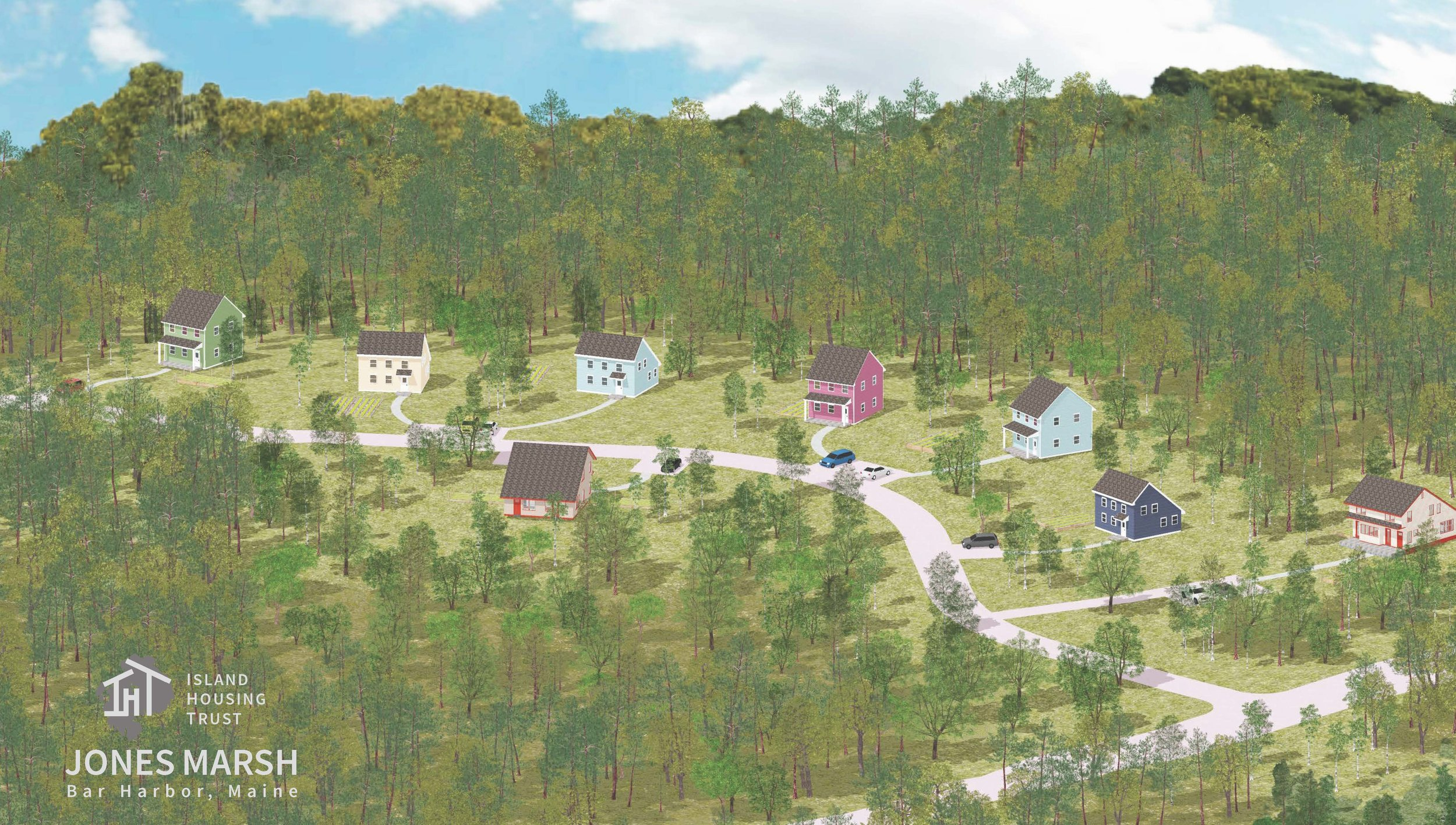 Conceptual rendering of the new Jones Marsh neighborhood
