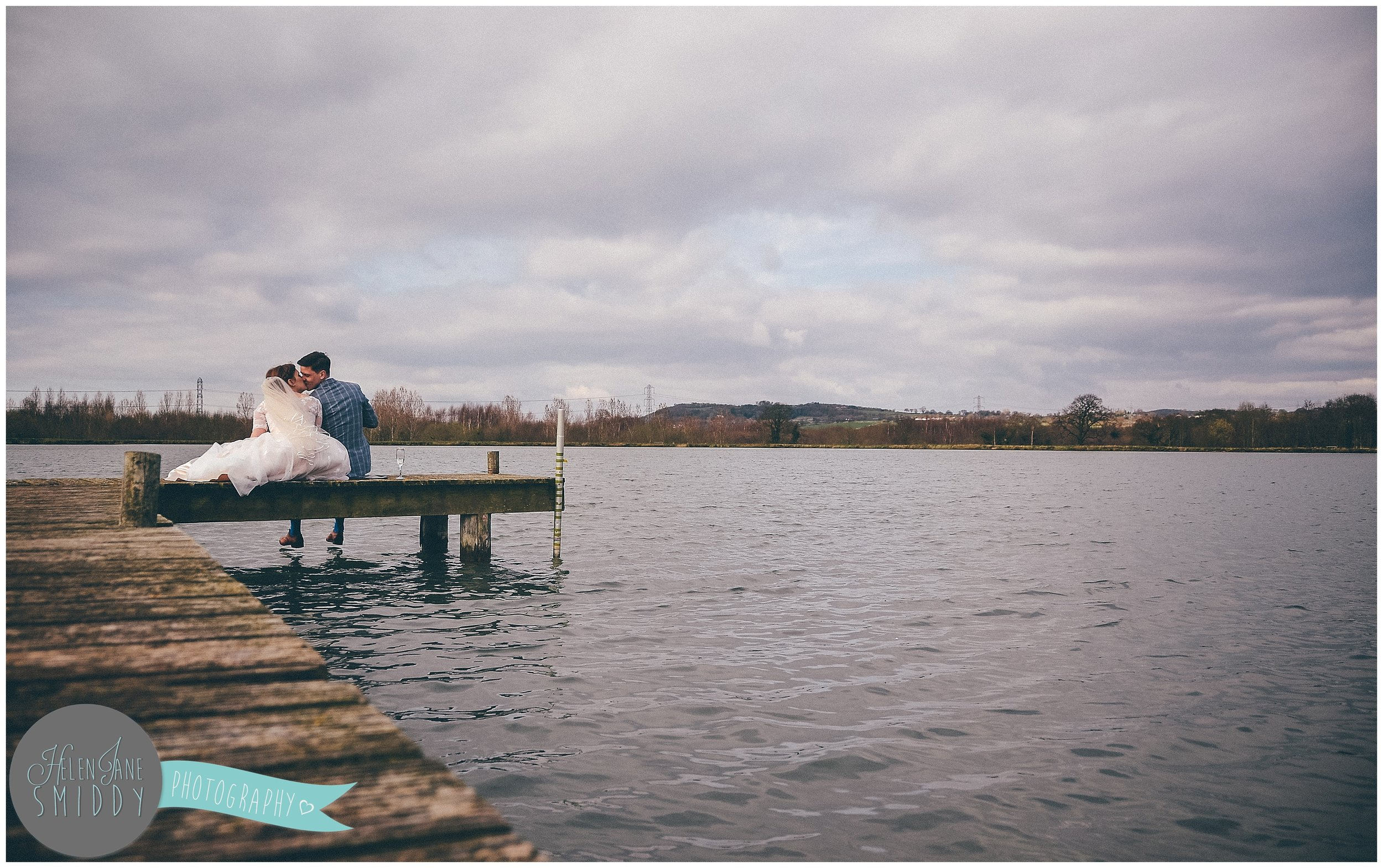 Manley Mere has a cute jetty for the newlyweds to sit on together.