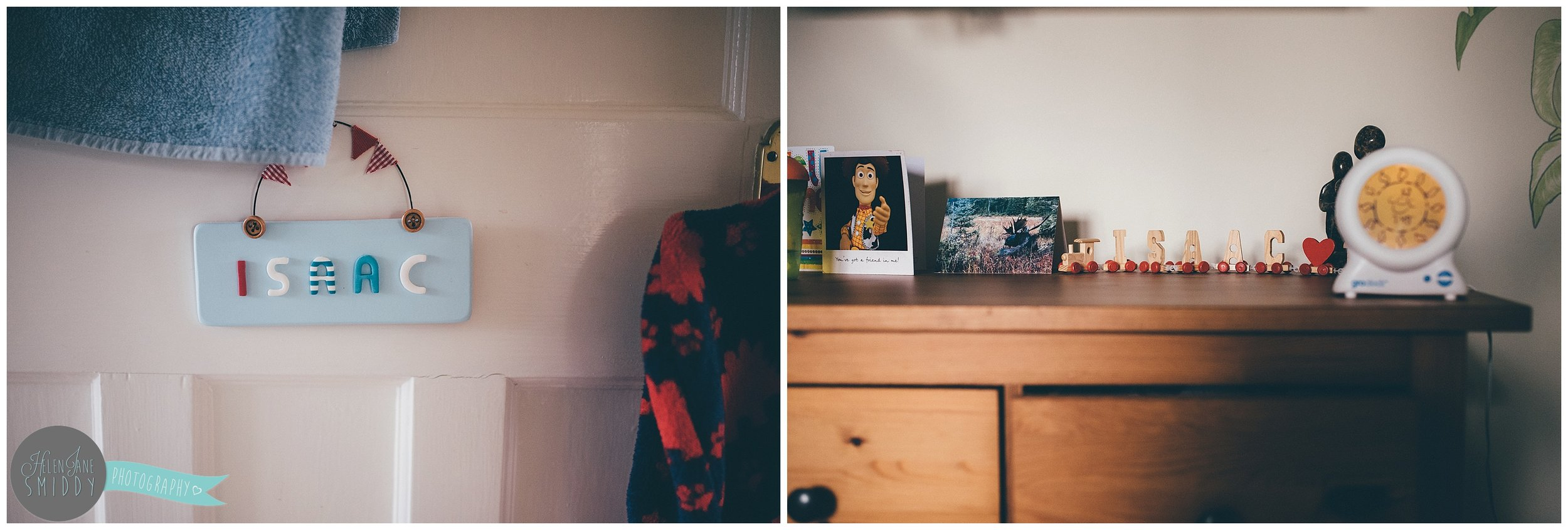Details of Isaac's bedroom during their Day In The Life photoshoot.