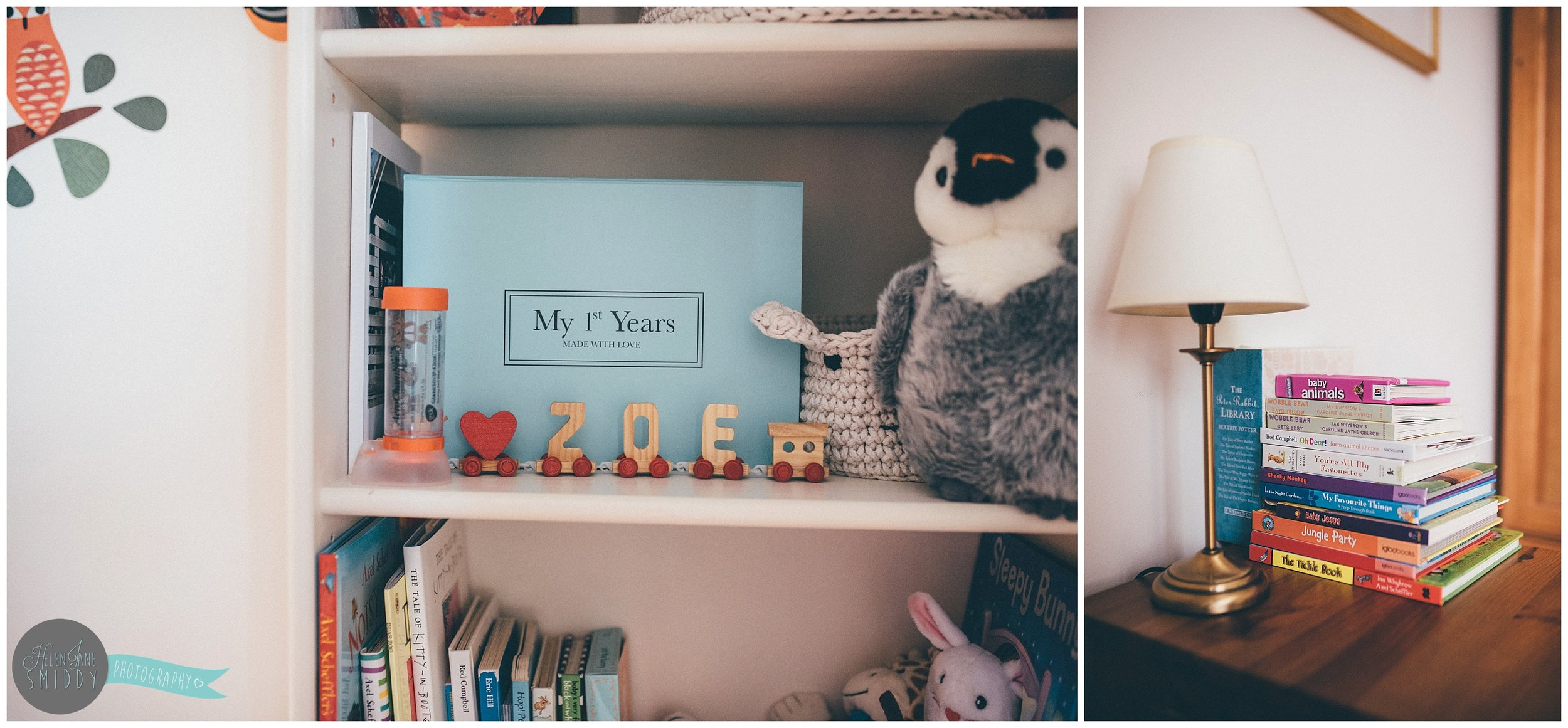 Details of Zoe's bedroom on their Day In The Life photoshoot.