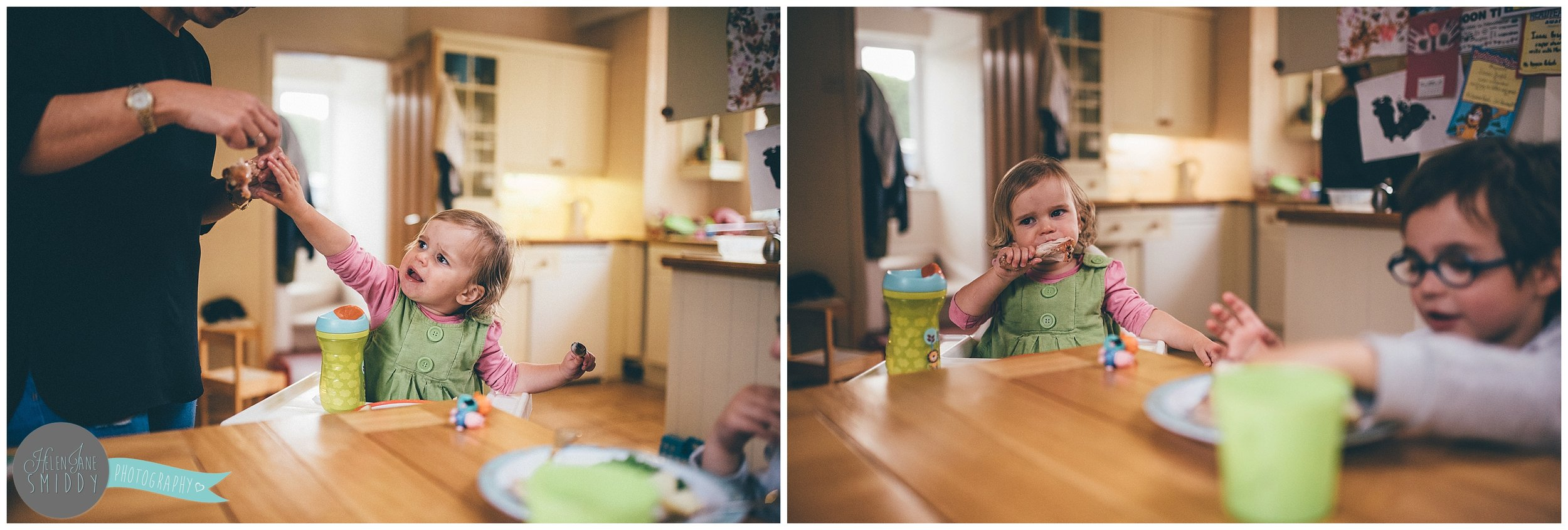 Dinner time in the Frodsham family home during an A Day In The Life photoshoot in Cheshire.