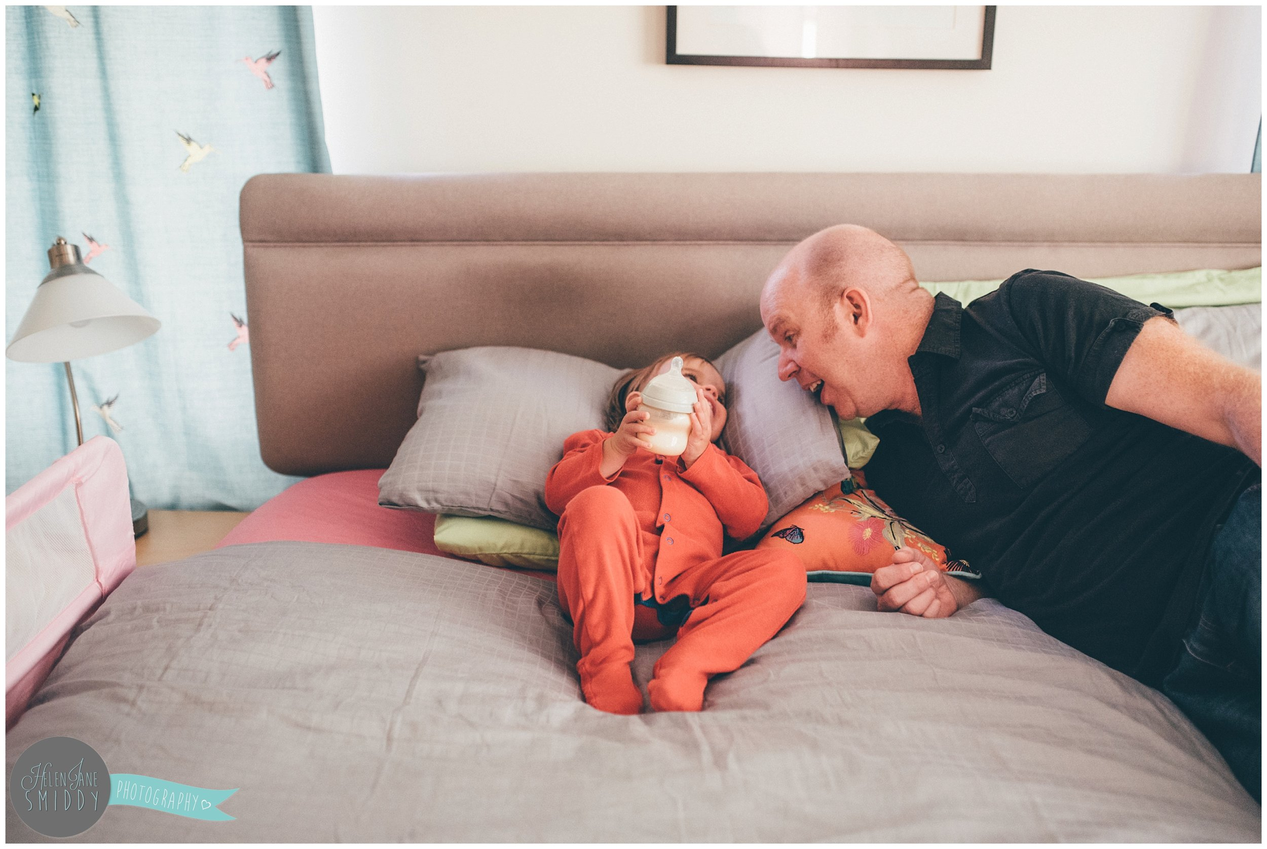 Bedtime in the Frodsham family home during an A Day In The Life photoshoot in Cheshire.