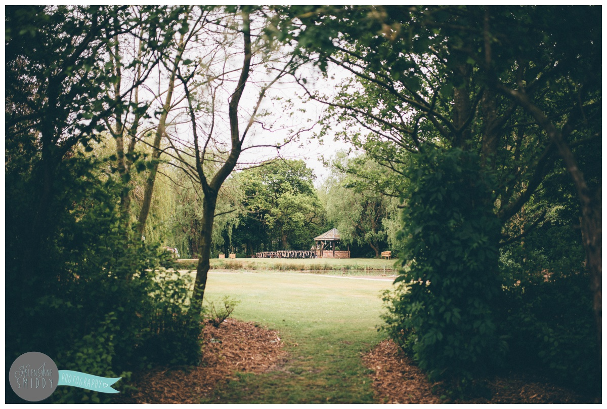 The beautiful woodland area at Manley Mere in Frodsham where weddings take place.