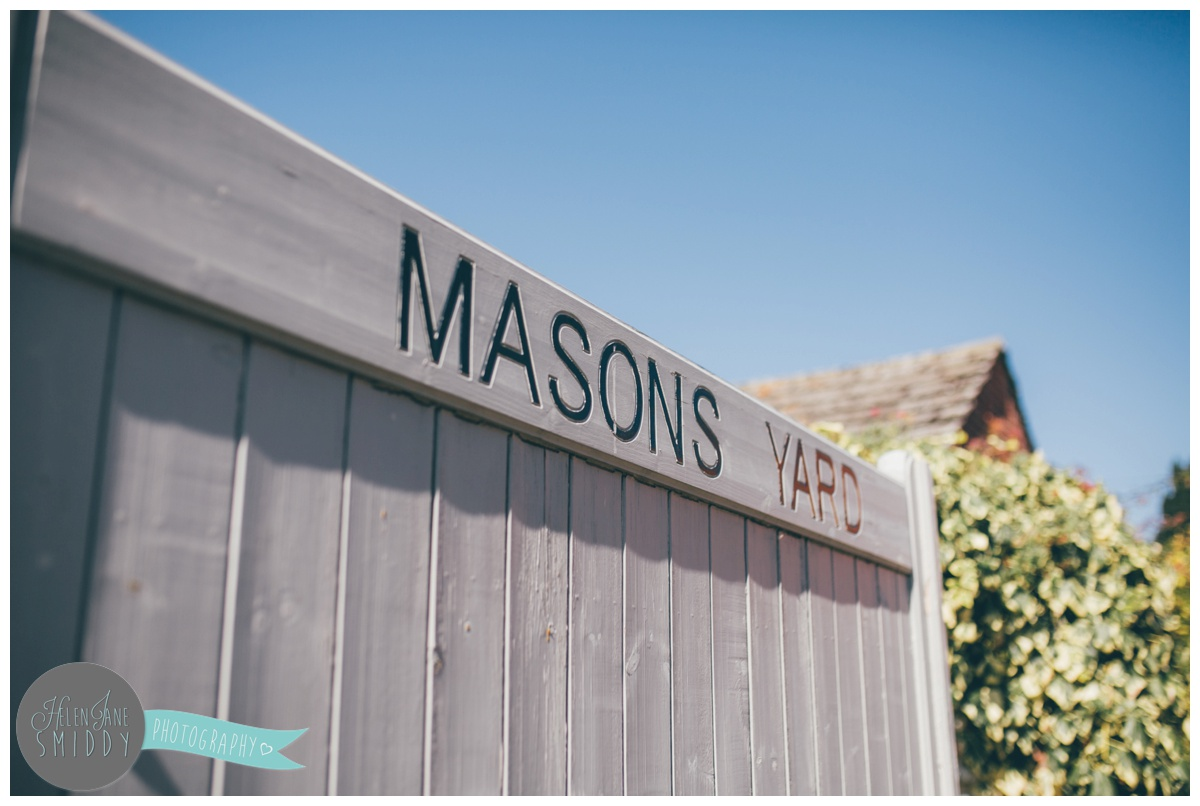 Mason's Yard in Norfolk where the Groom and his Groomsmen got ready.