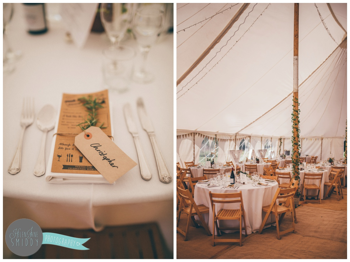 Beautiful clean and simple wedding table details.