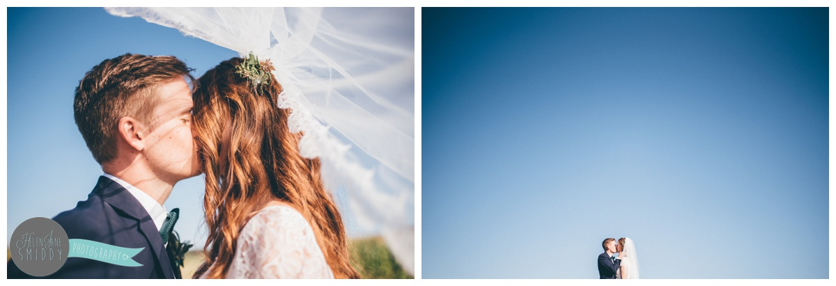 Stunning blue skies on a wedding day in Norfolk.
