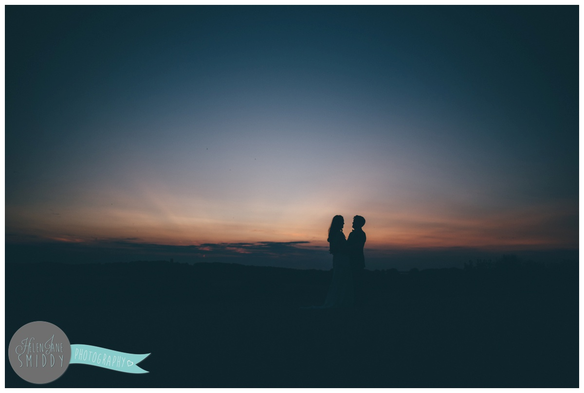 Stunning sunset photographs at Barn Drift wedding in Norfolk.