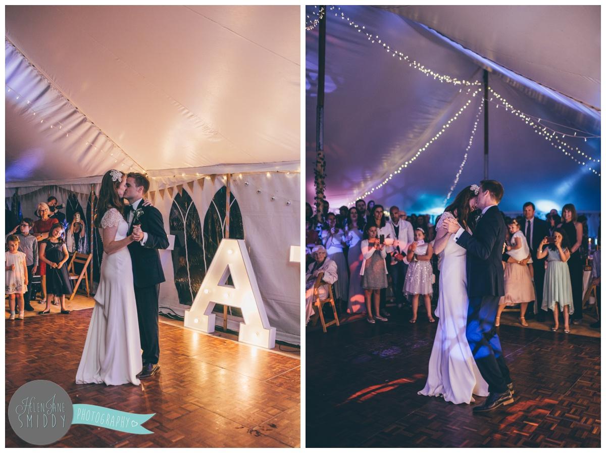 First Dance photographs at Barn Drift wedding in Norfolk.
