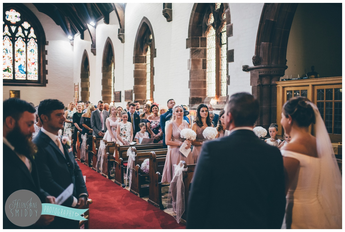 Wedding ceremony in Stockton Heath, Cheshire.