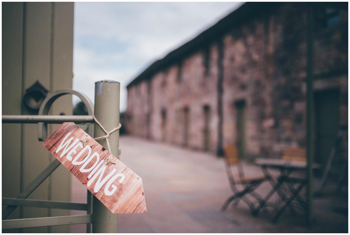 DIY wedding details at The Ashes wedding barn in Staffordshire.
