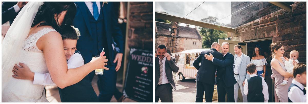 Wedding reception  at The Ashes wedding barn in Staffordshire.