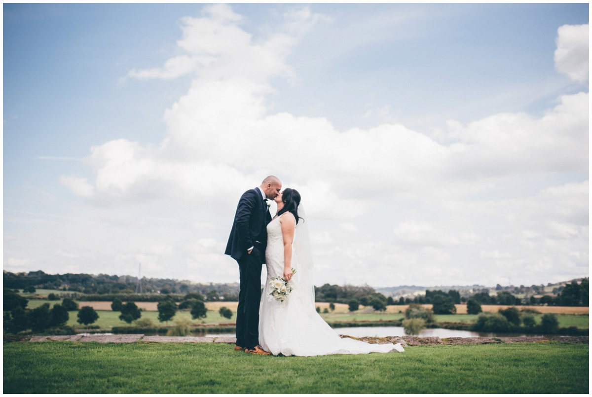 Amy and Phil have blue skies on their beautiful summer day wedding at The Ashes wedding barn in Staffordshire.