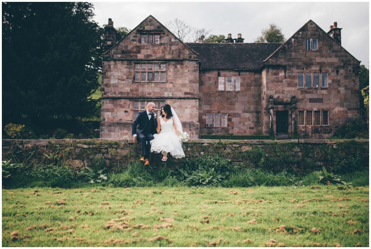 The Ashes wedding barn in Staffordshire makes a beautiful backdrop for a bride and groom on their wedding day.