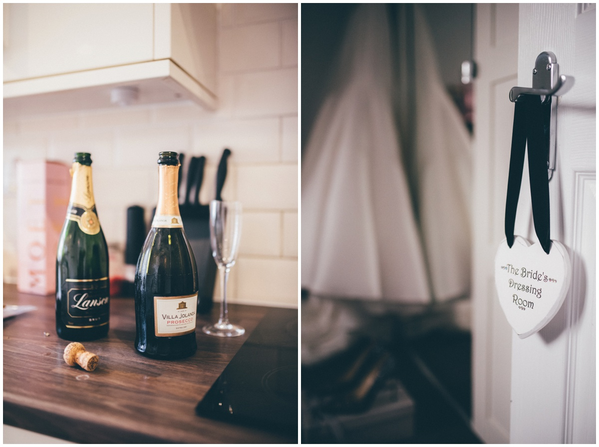 Details from the bride's house as she and her bridesmaids get ready for the Cheshire wedding.