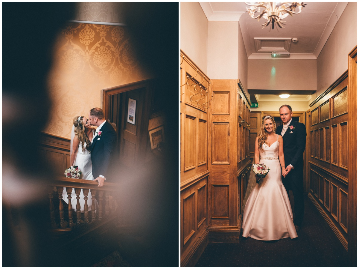 Couple photographs at Willington Hall in Cheshire.