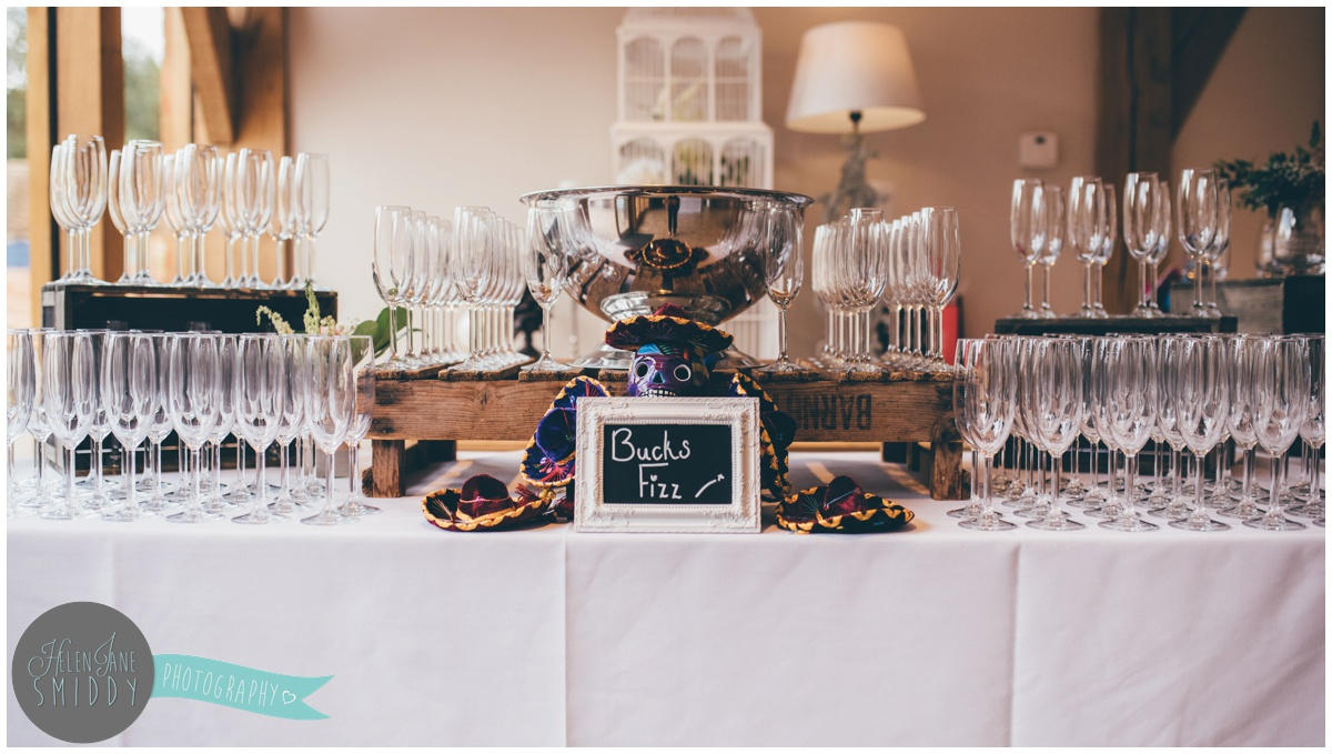 Mexican themed wedding at Bassmead Manor Barns.