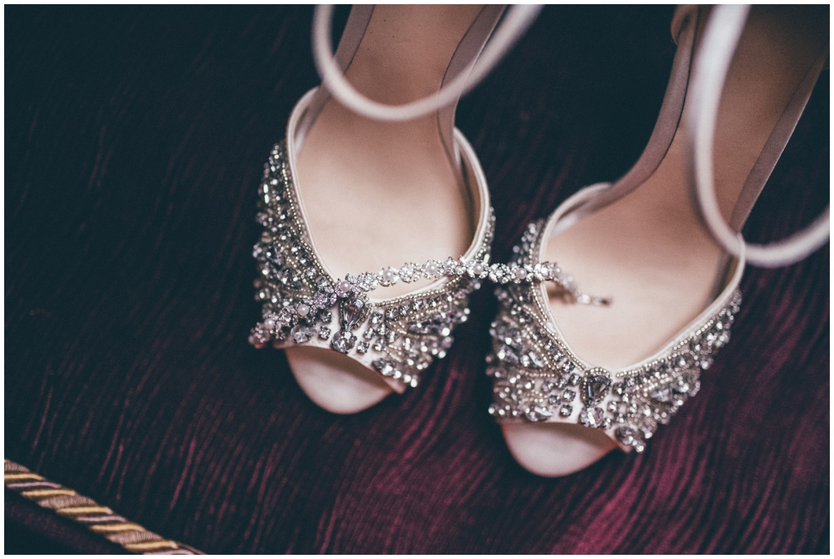 Stunning Jenny Packham bridal shoes.