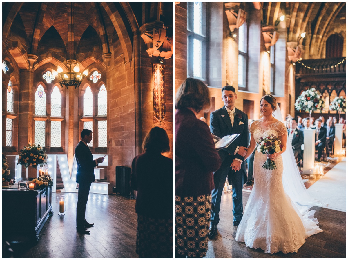 Ceremony at Peckforton Castle.