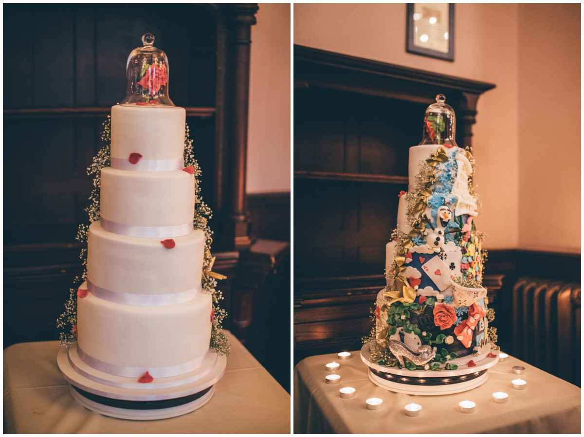 Incredible Disney themed wedding cake.