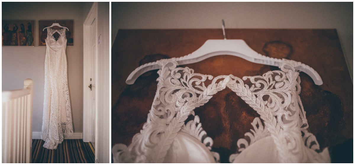 Stunning wedding gown for a New Years Eve wedding in Manchester.