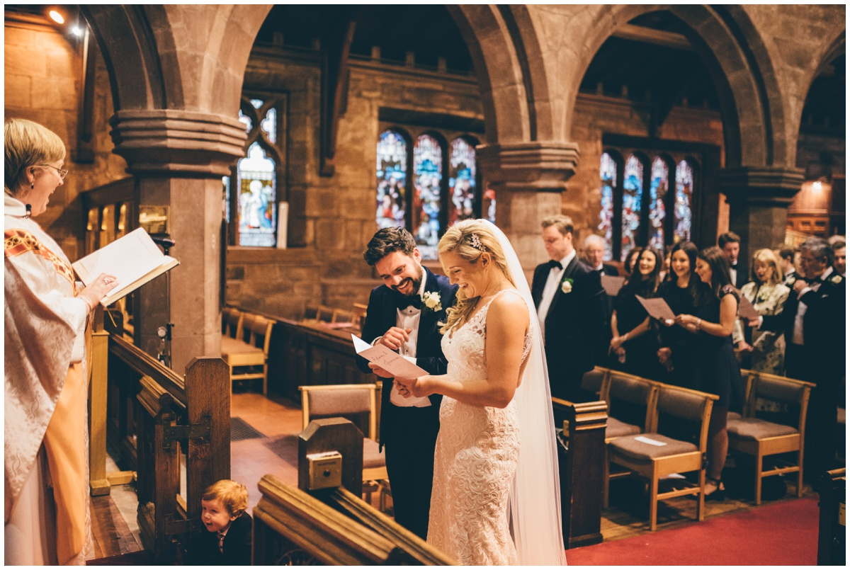 New Years Eve wedding ceremony in Cheshire.