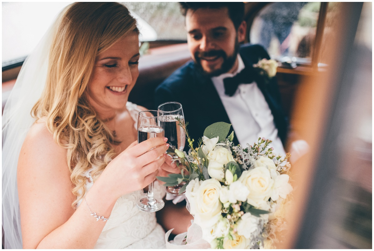 Cheshire wedding photographer captures beautiful bride an groom in Manchester.