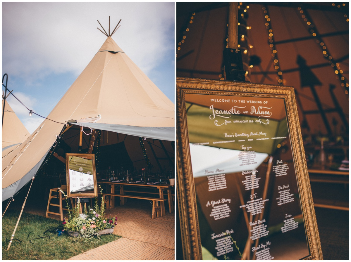 Wedding tipis in the family field in Staffordshire.