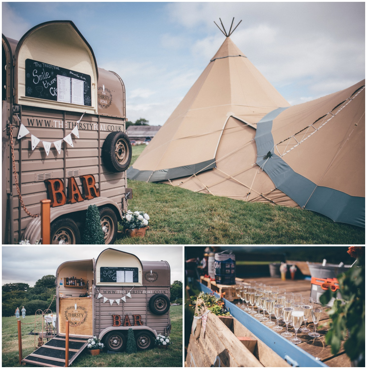 Tipi wedding in Staffordshire by Cheshire wedding photgrapher.