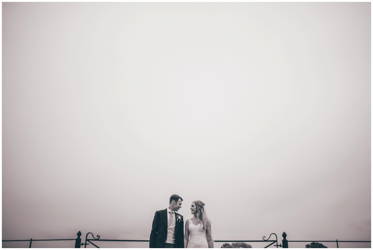 Black and white wedding photograph at Merrydale Manor.