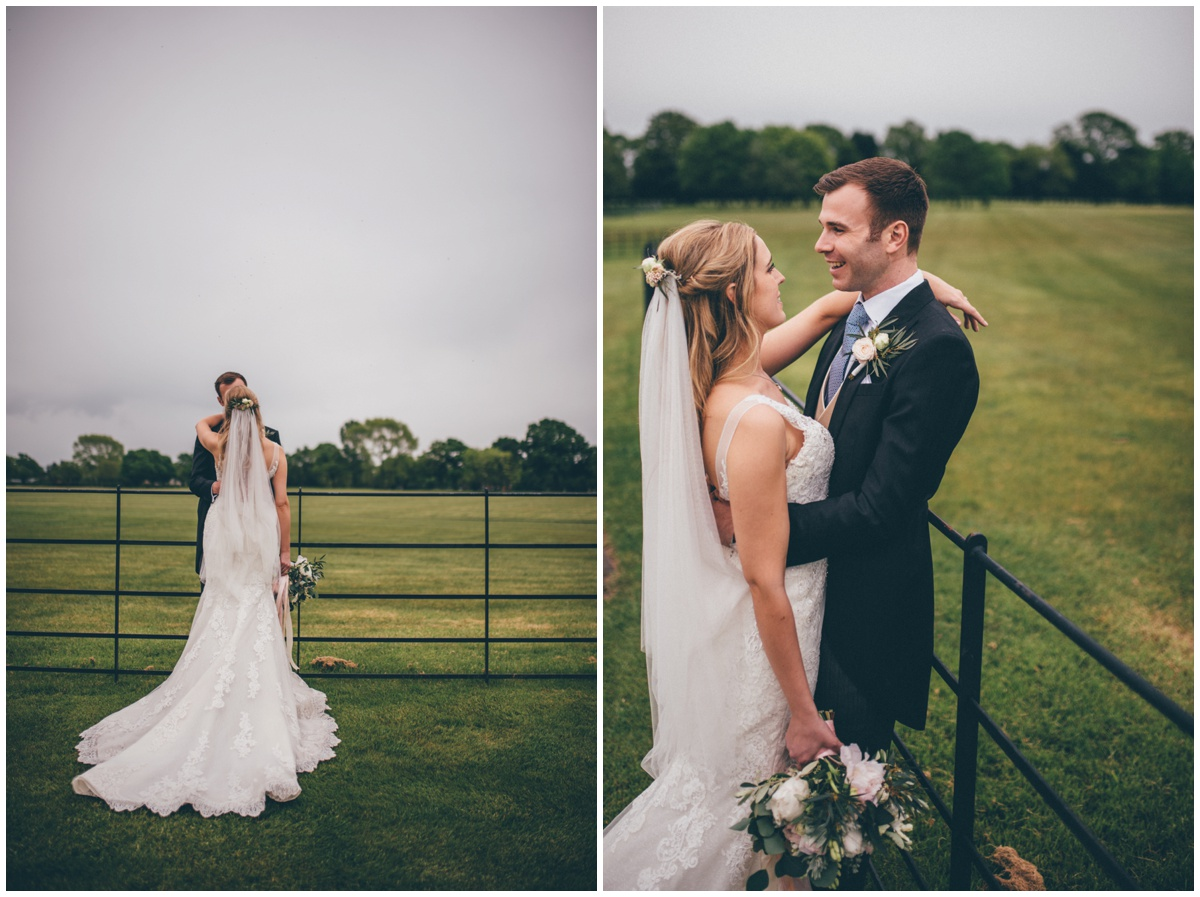 Wedding photographs taken of the newlyweds at Merrydale Manor.