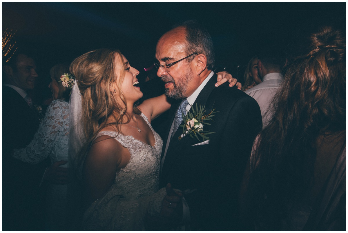 Bride dancing with her Dad at Merrydale Manor.