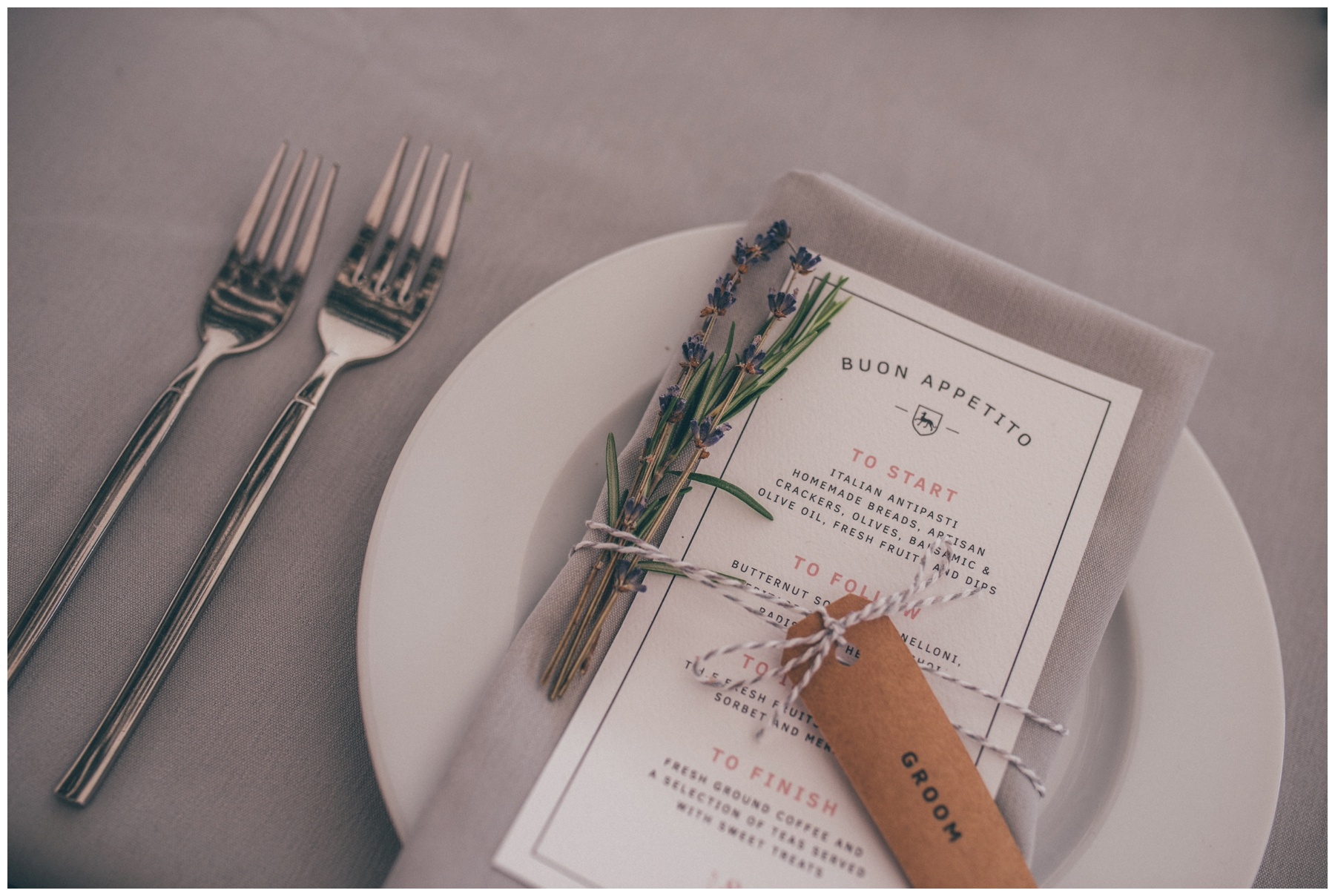 Stunning table decorations and wedding stationary at the Holford Estate in Cheshire.