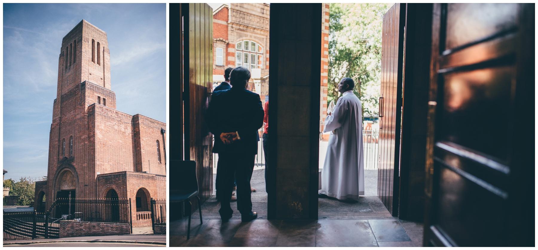 Sacred Heart Church wedding in Sheffield.