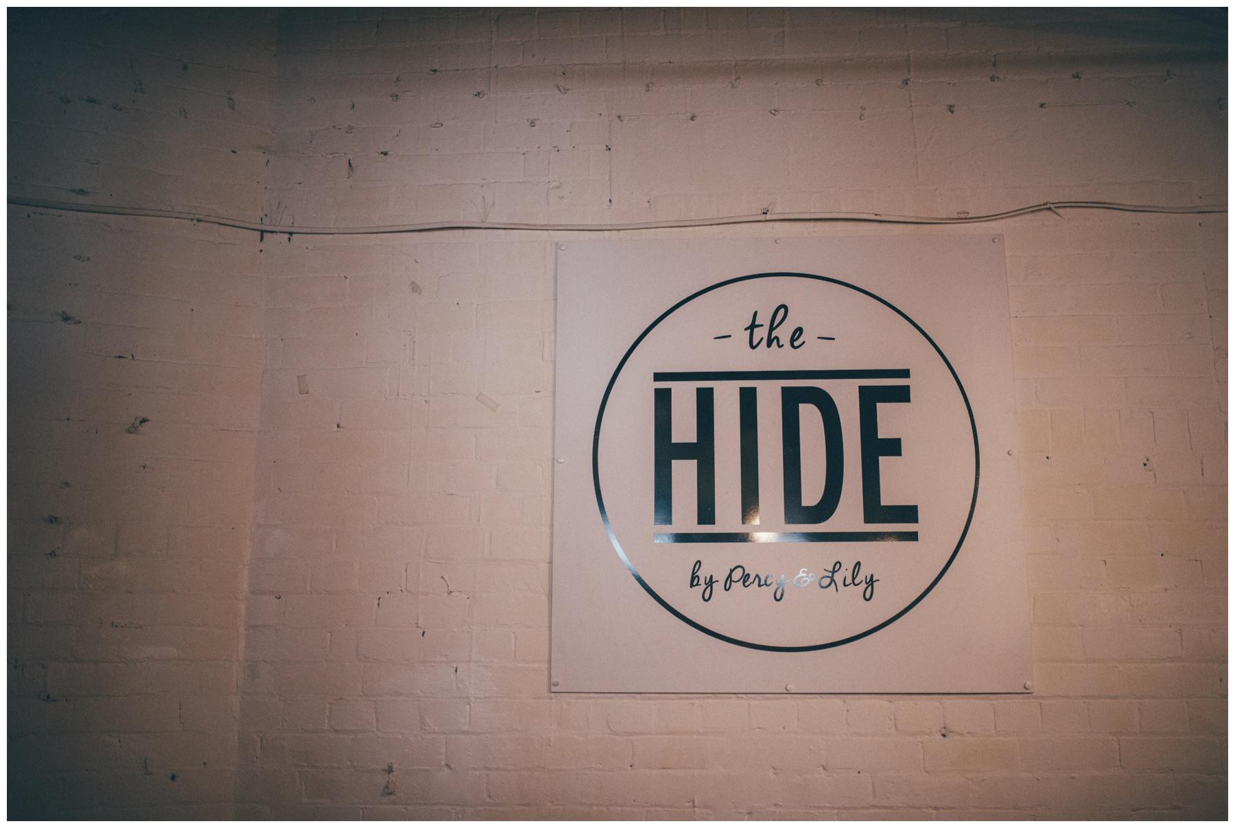 Creative wedding venue in Sheffield, The Hide.