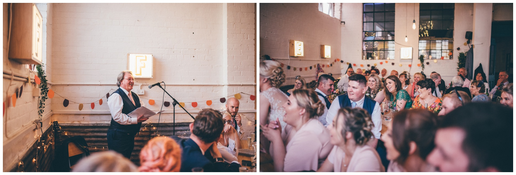 Wedding speeches at The Hide in Sheffield.