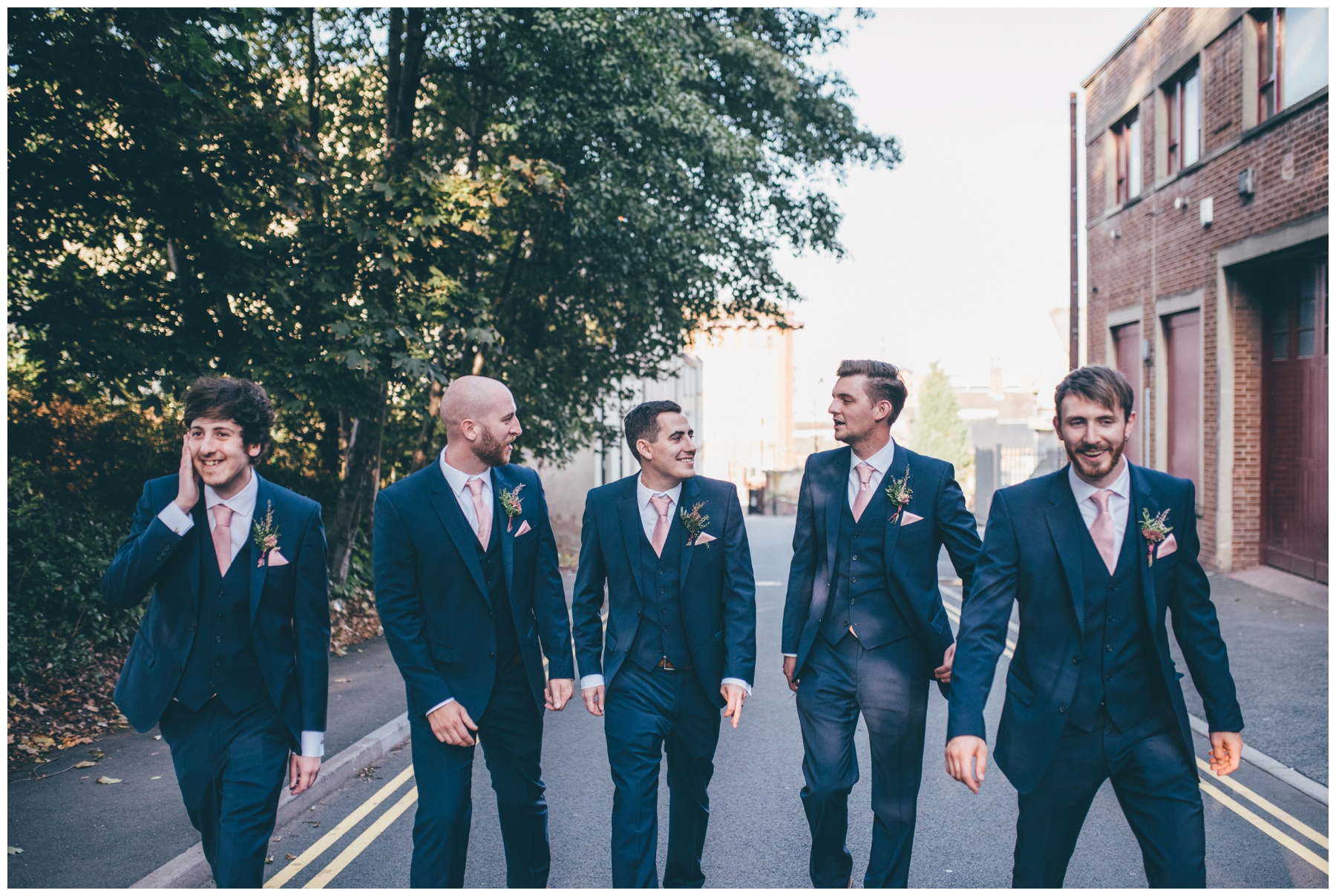 Groom and his groomsmen at The Hide in Sheffield.