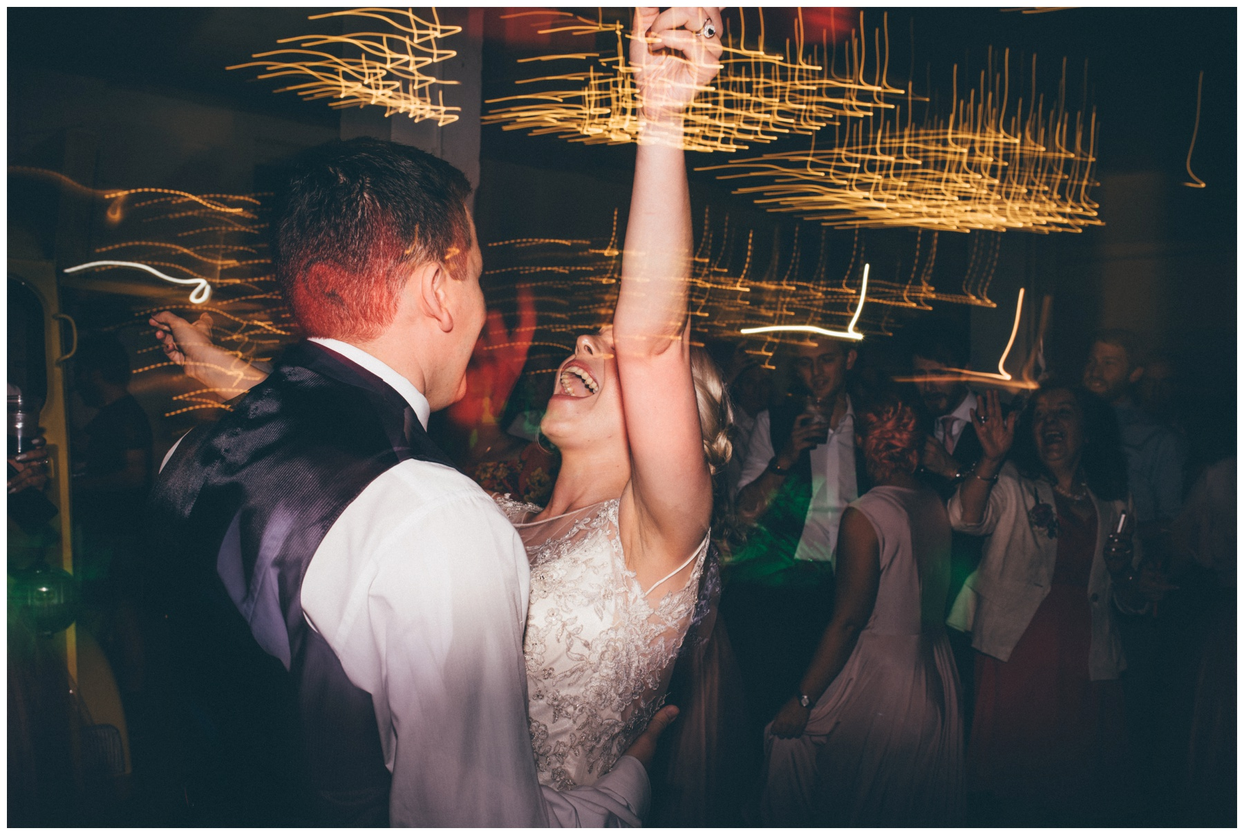 Bride and groom enjoy their First Dance at The Hide in Sheffield.
