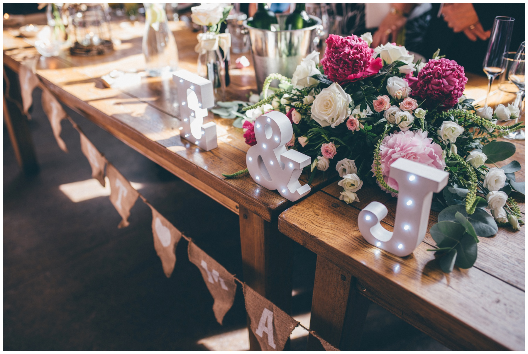 Table details at Wedding venue, Oh Me Oh My in Liverpool City Centre.