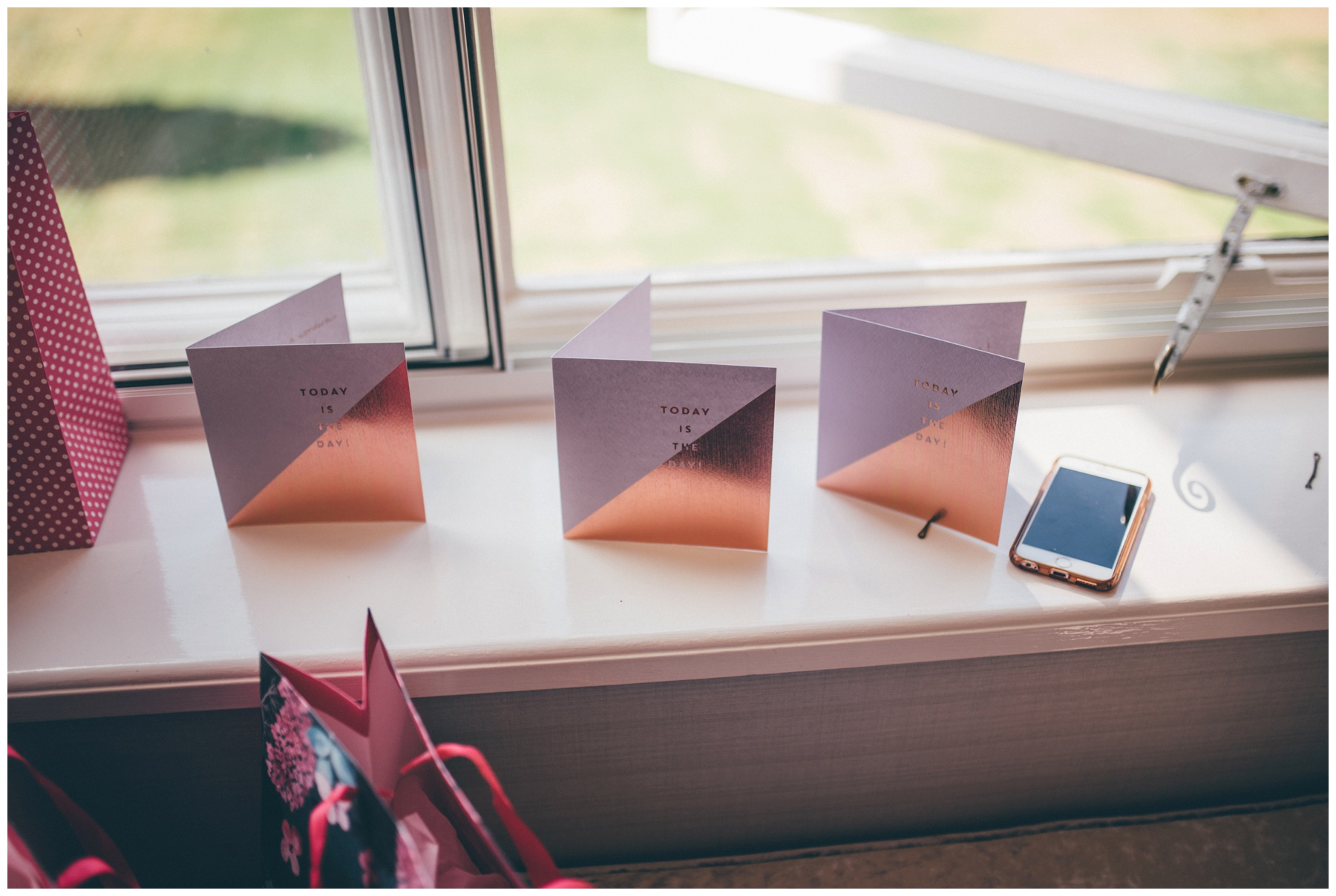 Cute personalised Bridesmaid cards at Tilstone House.