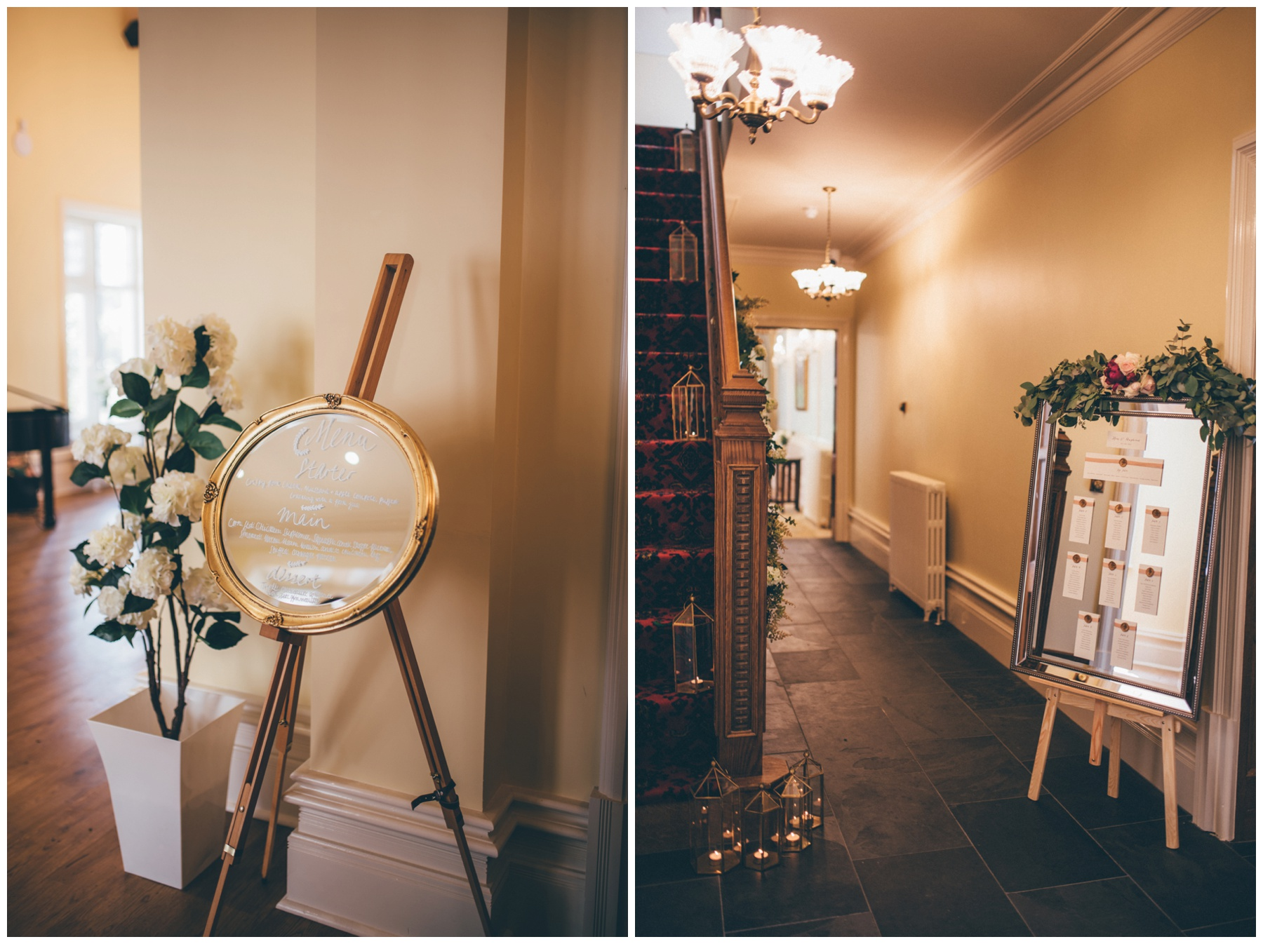 Tilstone House details for the spring time wedding.