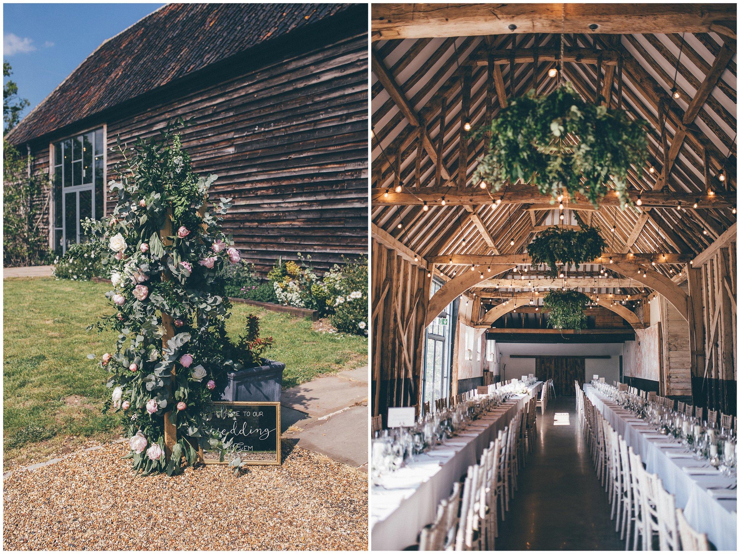Henham Park wedding barns.