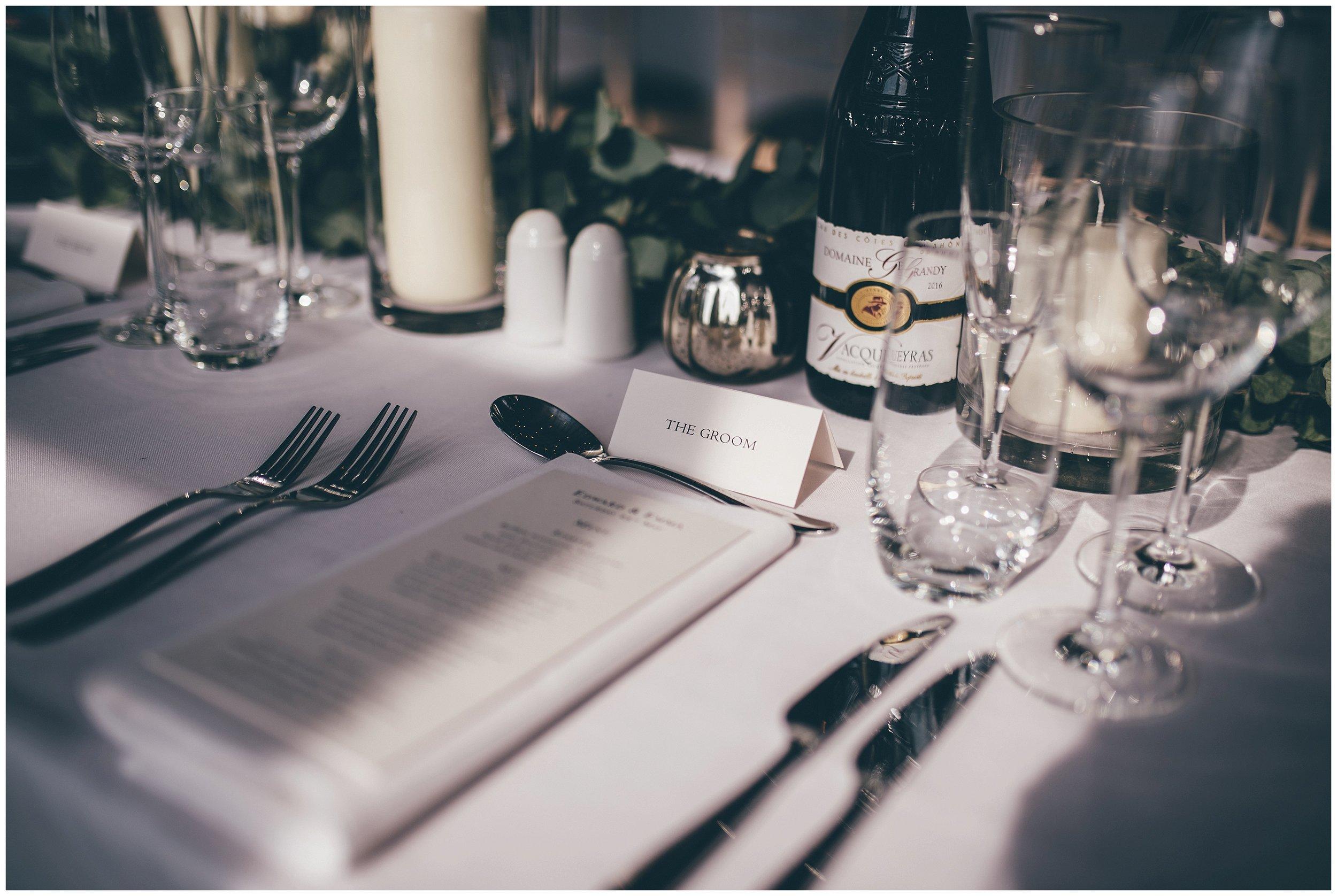 Stunning table details at Henham Park wedding barns.