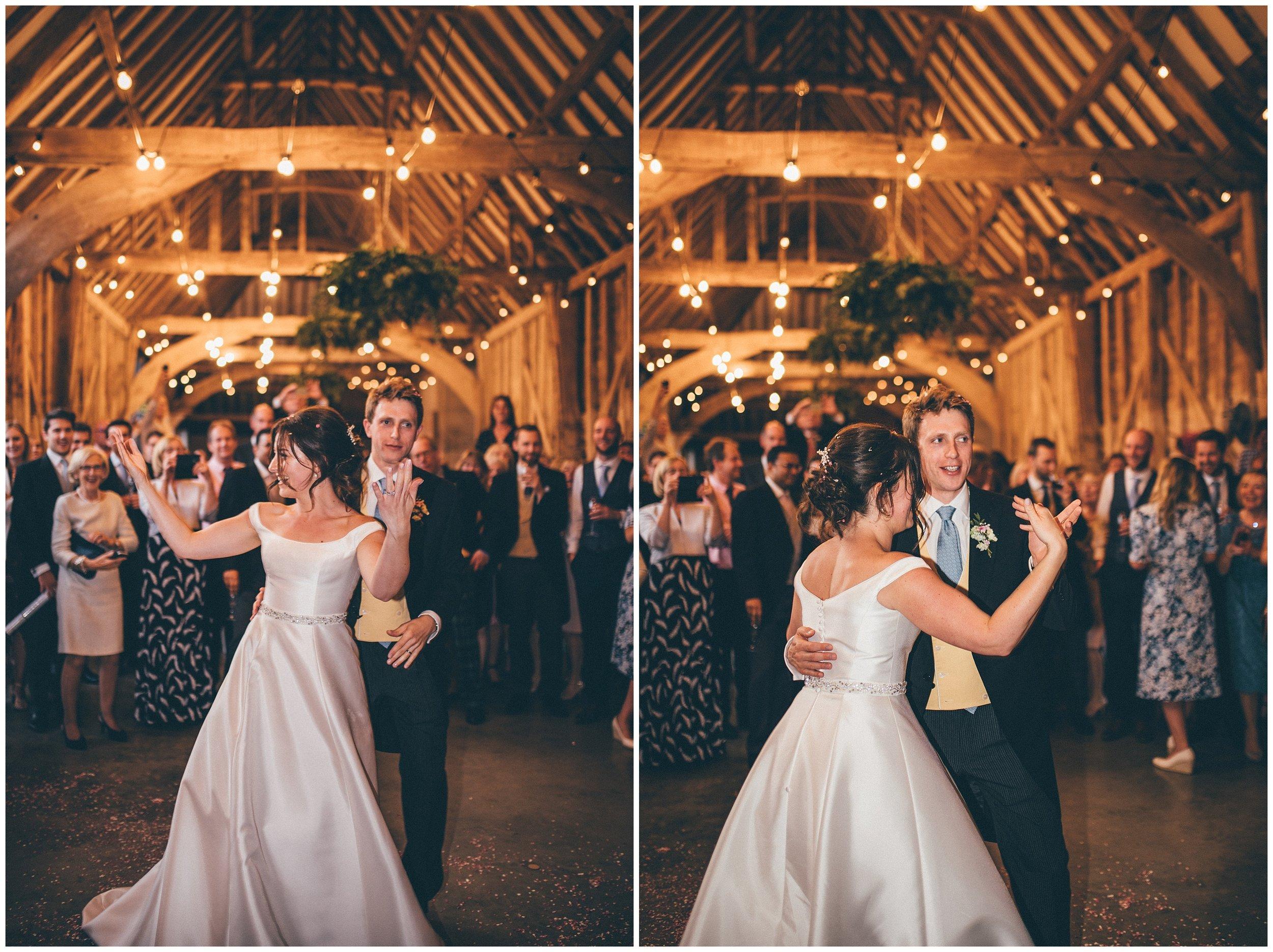 First Dance at Henham Park wedding barns in Southwold.