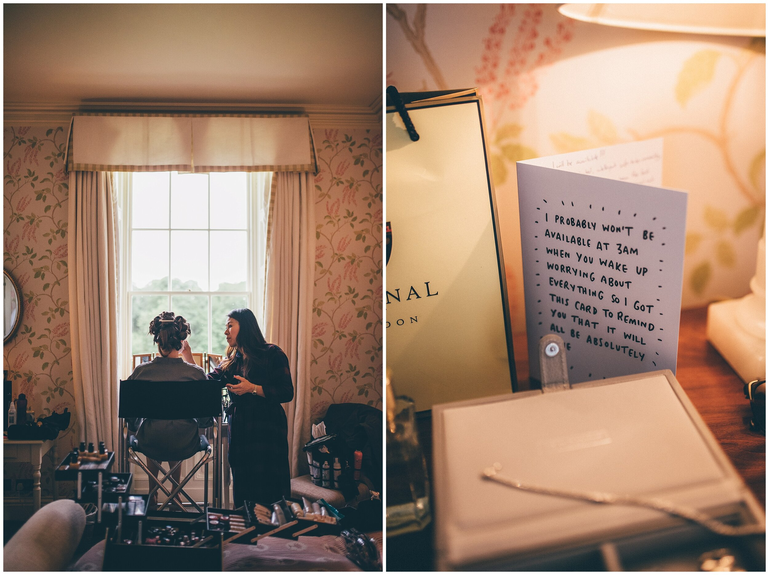 Bridal preparations at Silverholme Estate in the Lake District.